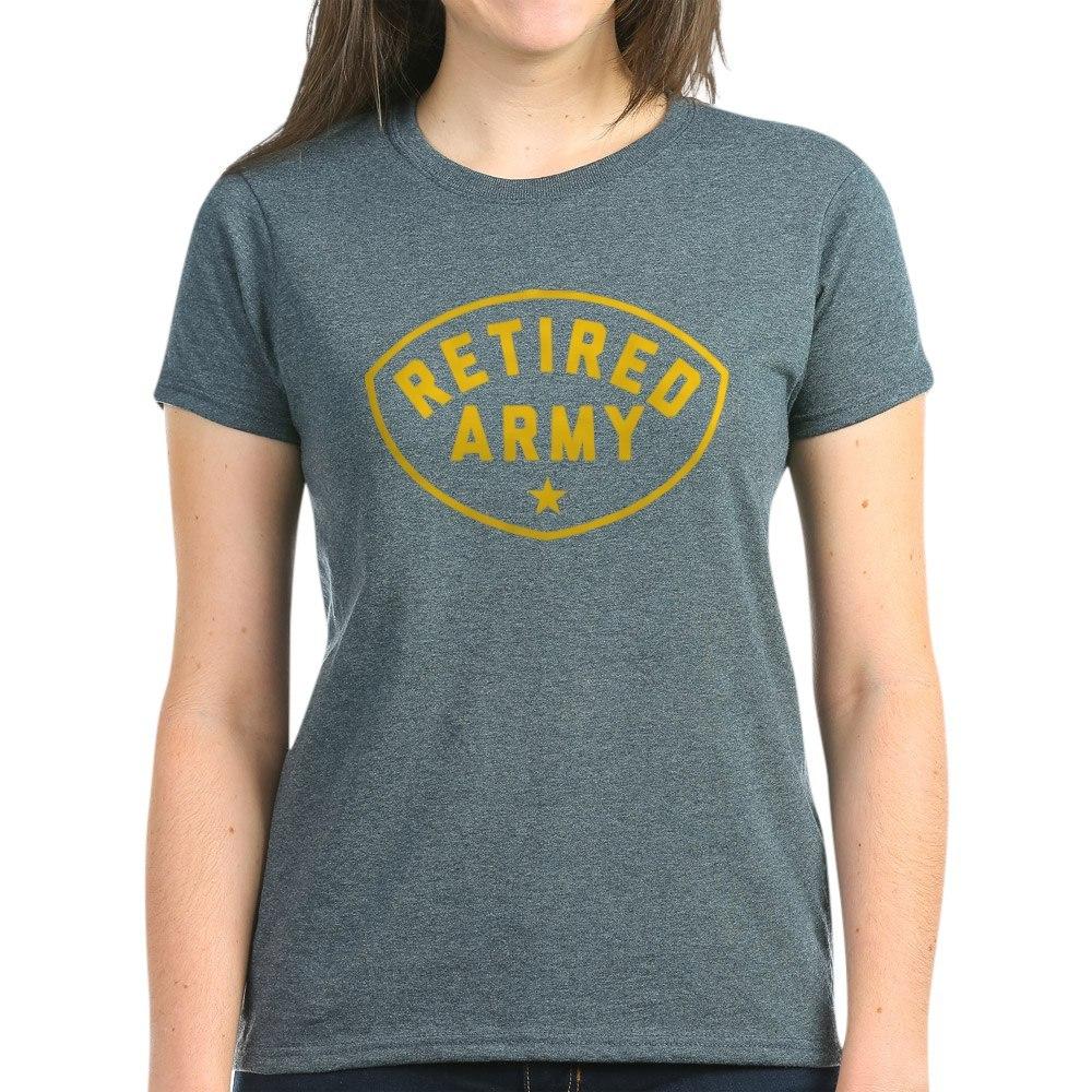 CafePress-Retired-Army-Women-039-s-Dark-T-Shirt-Women-039-s-Cotton-T-Shirt-81930121 thumbnail 29