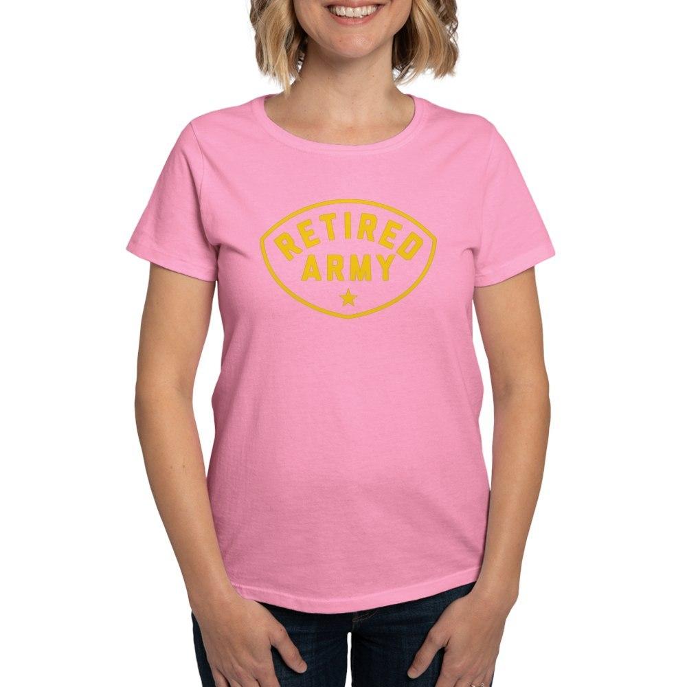 CafePress-Retired-Army-Women-039-s-Dark-T-Shirt-Women-039-s-Cotton-T-Shirt-81930121 thumbnail 56