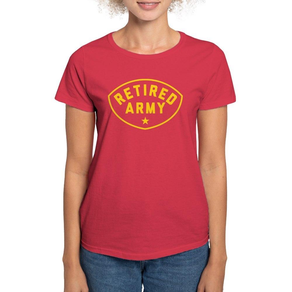 CafePress-Retired-Army-Women-039-s-Dark-T-Shirt-Women-039-s-Cotton-T-Shirt-81930121 thumbnail 68