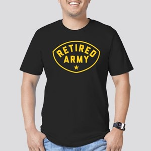 Retired Army Men's Fitted T-Shirt (dark)