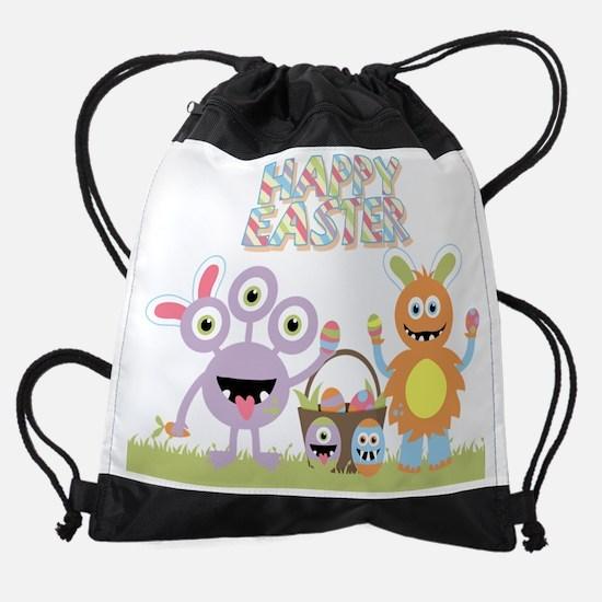 Monster Happy Easter Drawstring Bag