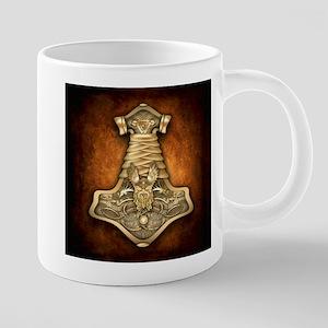 Gold Thors Hammer Stainless Steel Travel Mugs