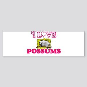 I Love Possums Bumper Sticker
