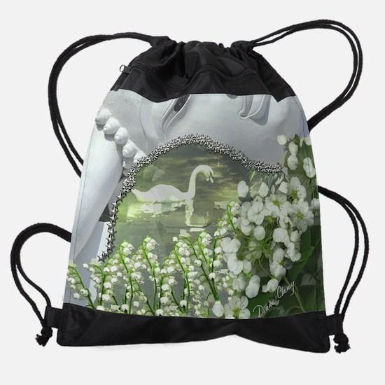 In the Garden - Quan Yin Flowers Drawstring Bag