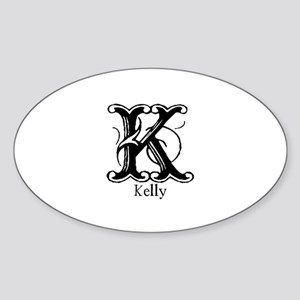 Kelly: Fancy Monogram Oval Sticker