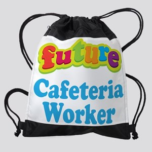 Future Cafeteria Worker Drawstring Bag