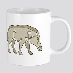 Pictish Boar Stainless Steel Travel Mugs
