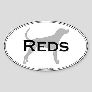 Reds Oval Sticker