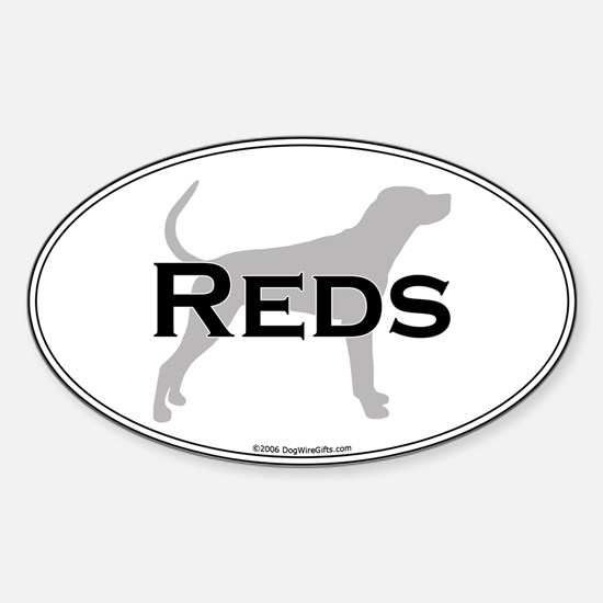 Reds Oval Decal