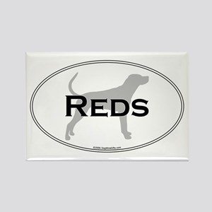 Reds Rectangle Magnet