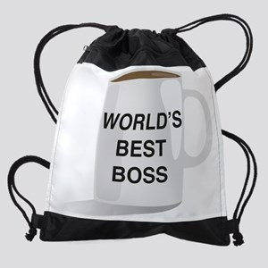 World's Best Boss Drawstring Bag