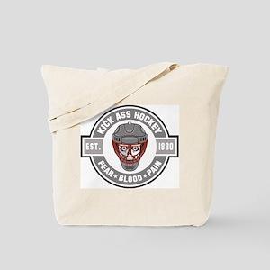 Kick Ass Hockey Tote Bag