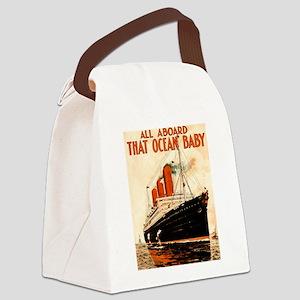 Vintage Ocean Liner Canvas Lunch Bag