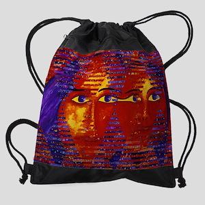 Conundrum III Abstract Goddess Drawstring Bag