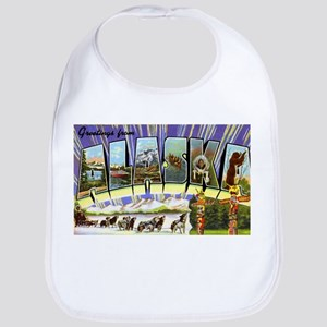 Alaska Greetings Bib