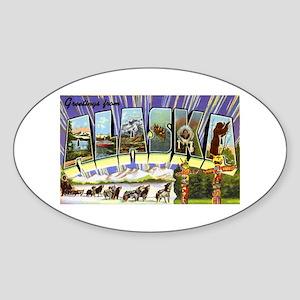 Alaska Greetings Oval Sticker