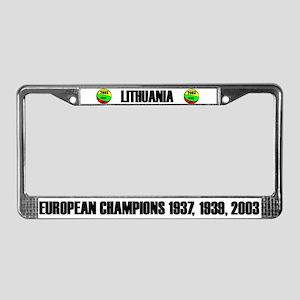 Lithuania Euro Champ License Plate Frame