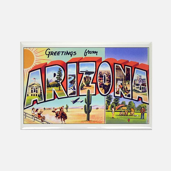 Arizona Greetings Rectangle Magnet