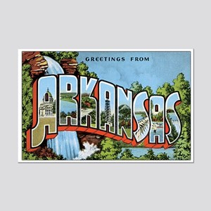 Arkansas Greetings Mini Poster Print