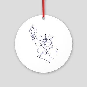 Lady Liberty Ornament (Round)