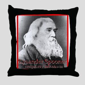Lysander Spooner Throw Pillow