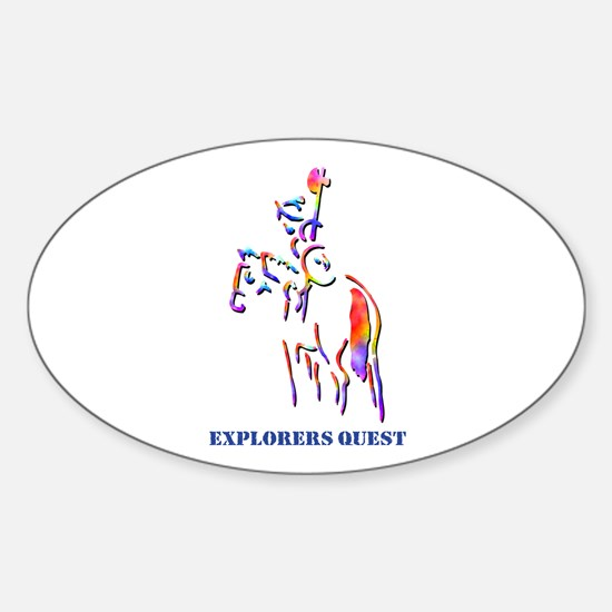 Explorers Quest Oval Decal