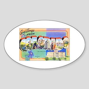 Colorado Greetings Oval Sticker