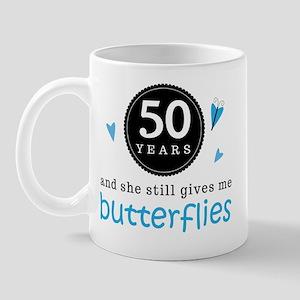 50 Year Anniversary Butterfly Mug