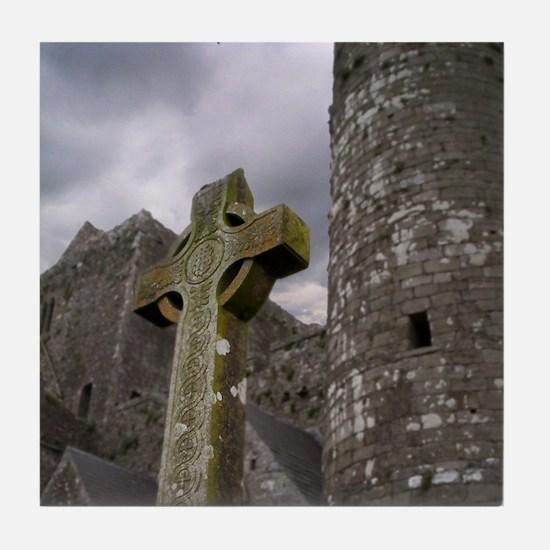 Celtic Cross II Tile Coaster