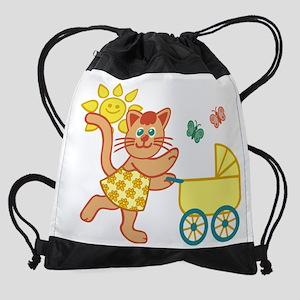 Personalized Big Sister Drawstring Bag