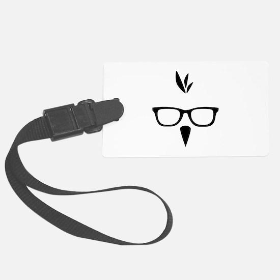 Cute Bird nerd Luggage Tag