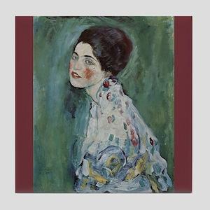 Klimt Art Tile Coaster Portrait of a Lady