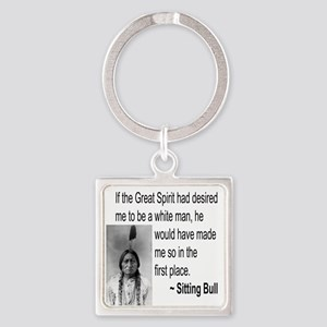 Sitting Bull Square Keychain