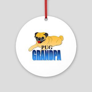 Fawn Pug Grandpa Ornament (Round)