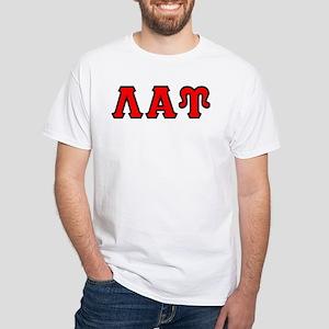 Lambda Alpha Upsilon Letters White T-Shirt
