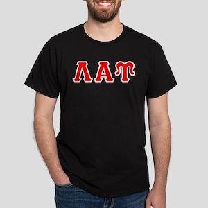Lambda Alpha Upsilon Letters Dark T-Shirt
