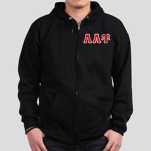 Lambda Alpha Upsilon Letters Zip Hoodie (dark)