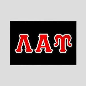 Lambda Alpha Upsilon Letters Rectangle Magnet