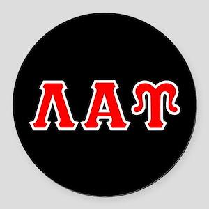 Lambda Alpha Upsilon Letters Round Car Magnet