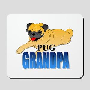 Fawn Pug Grandpa Mousepad