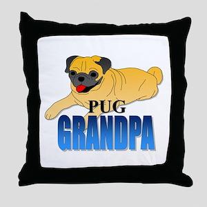 Fawn Pug Grandpa Throw Pillow