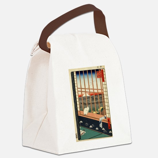 Japanese Cats Canvas Lunch Bag
