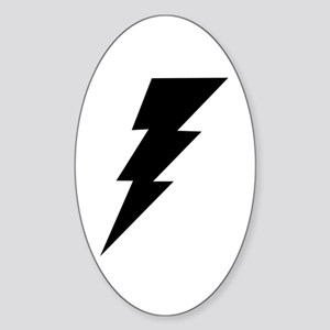 The Lightning Bolt 6 Shop Oval Sticker