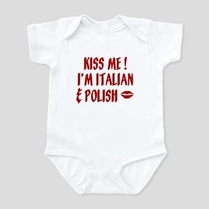 Kiss Me: Italian & Polish Infant Bodysuit