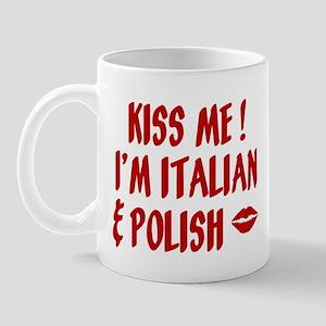 Kiss Me: Italian & Polish Mug