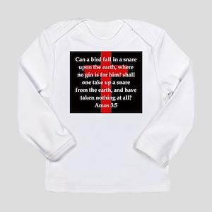 Amos 3:5 Long Sleeve Infant T-Shirt