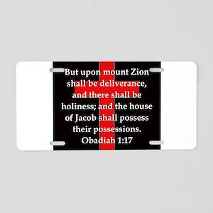 Obadiah 1-17 Aluminum License Plate