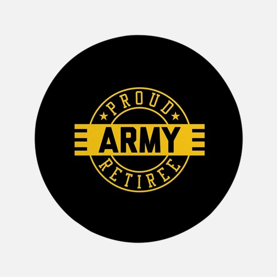 Proud Army Retiree Button
