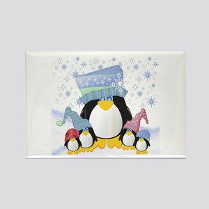 Penguin Family Rectangle Magnet