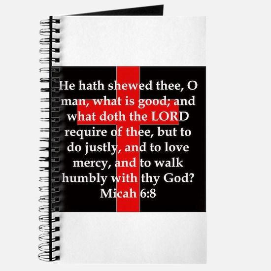 Micah 6-8 Journal